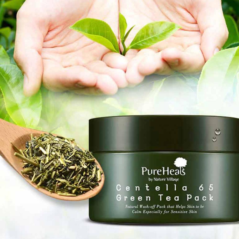 Pure Heals Centella 65 Green Tea Pack 130g Asiatica Pureheals 90 Ampoule 30ml Description